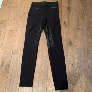 RW&Co Black Leggings with leather detail